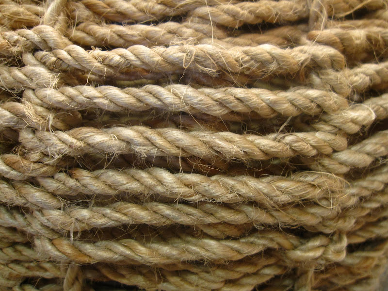 Close up of the rope base on a Table Lamp at Colcha