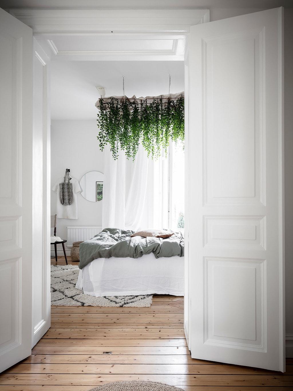 slaapkamer hangplanten