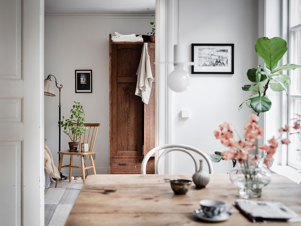 Fresh and cozy home with a vintage touch