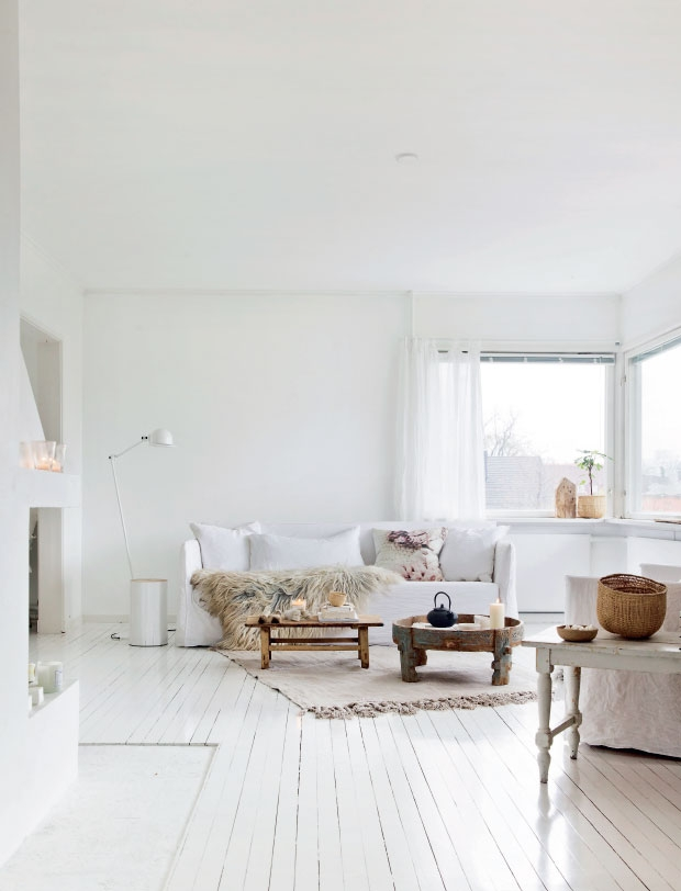 White home of photographer and stylist Line Kay in Oslo - via cocolapinedesign.com