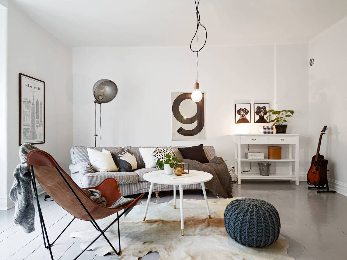 classic and mid century modern combined into a cozy swedish home coco lapine designcoco lapine. Black Bedroom Furniture Sets. Home Design Ideas