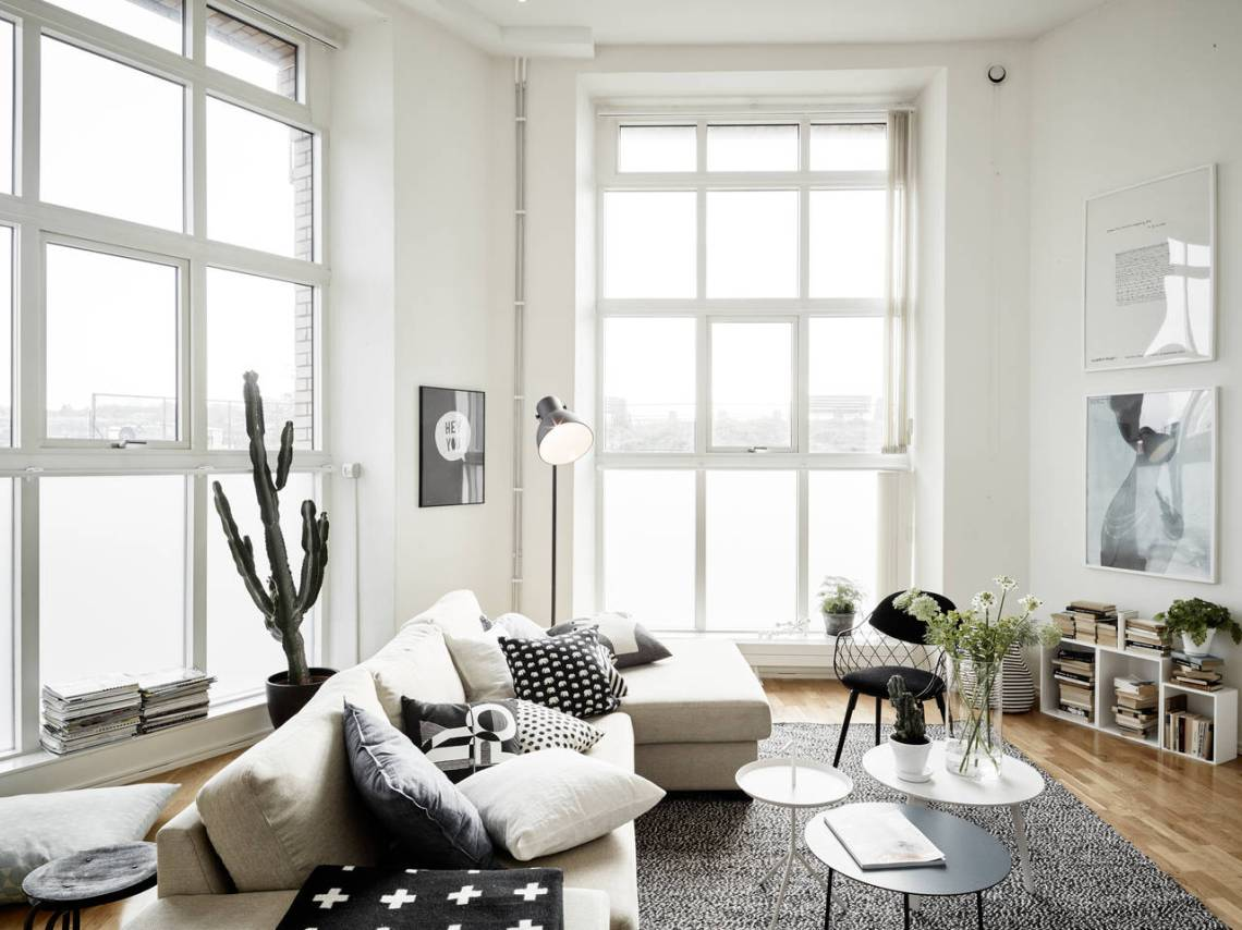 Tall flat with two levels - via cocolapinedesign.com