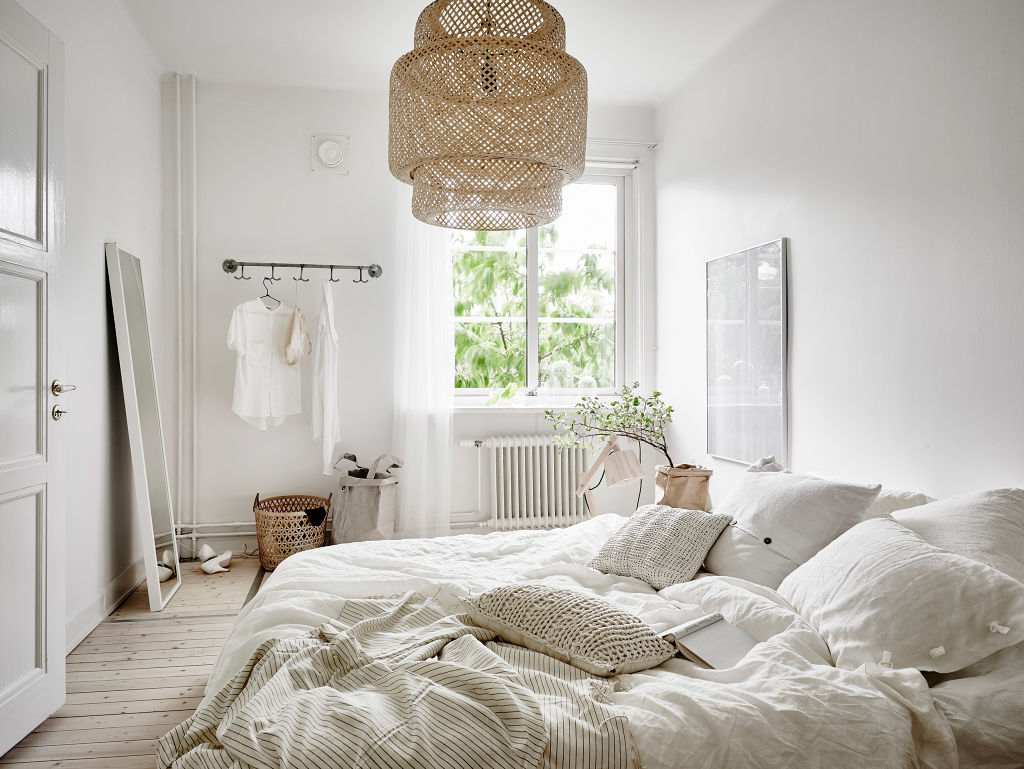 beige and greens in the bedroom via cocolapinedesigncom