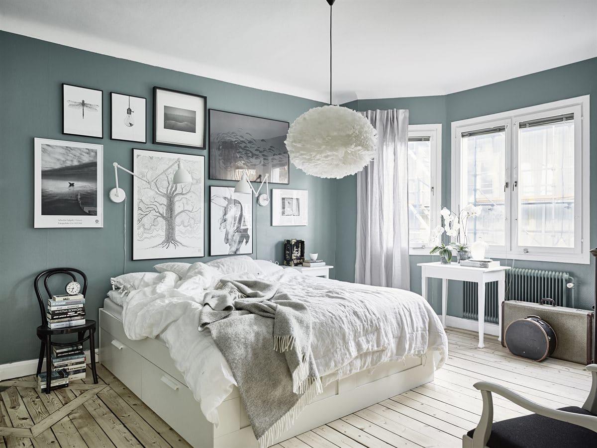 ... Grey Green Walls   Via Cocolapinedesign.com ...