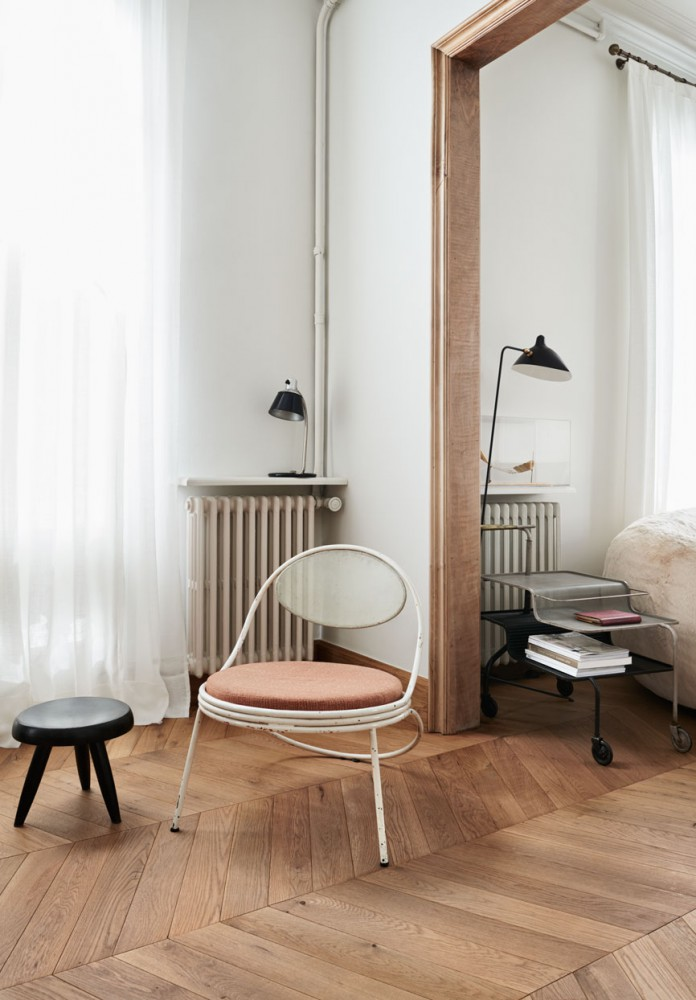 A dusty pink chair - via cocolapinedesign.com