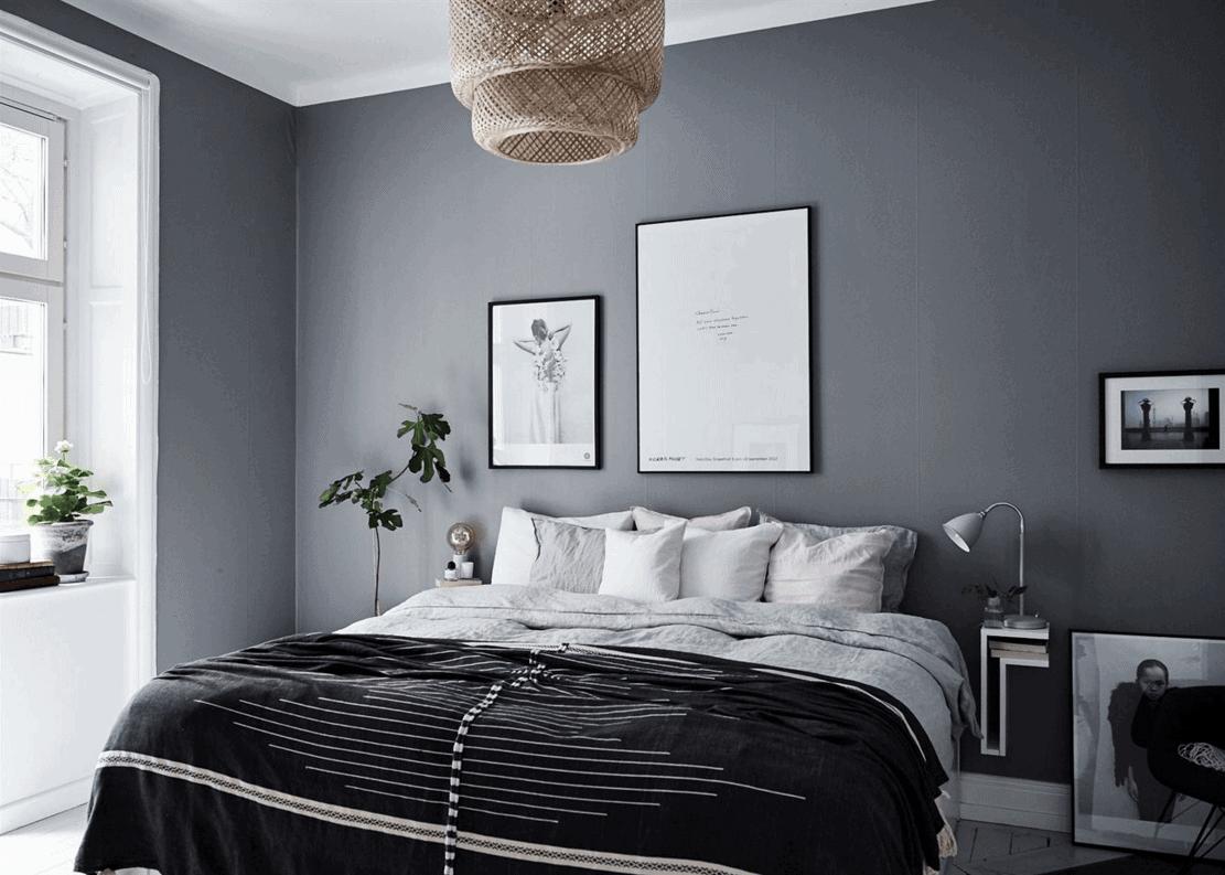 10 dark bedroom walls coco lapine designcoco lapine design for Grey wall bedroom ideas