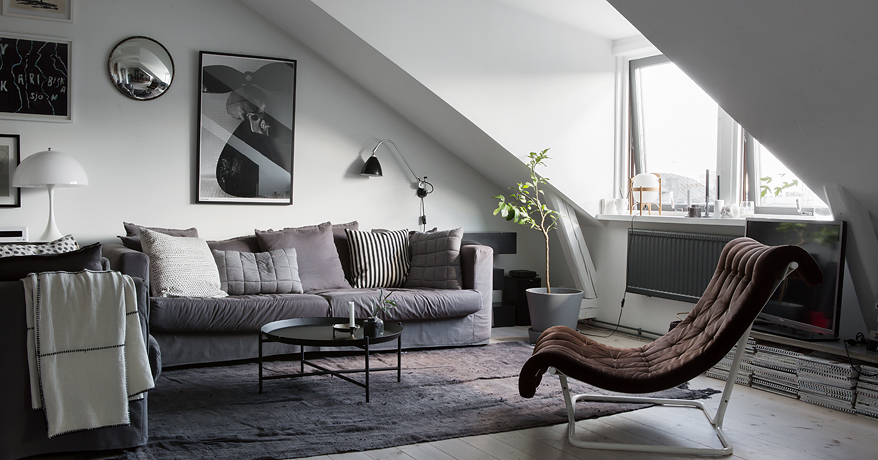 Small attic home - via Coco Lapine Design