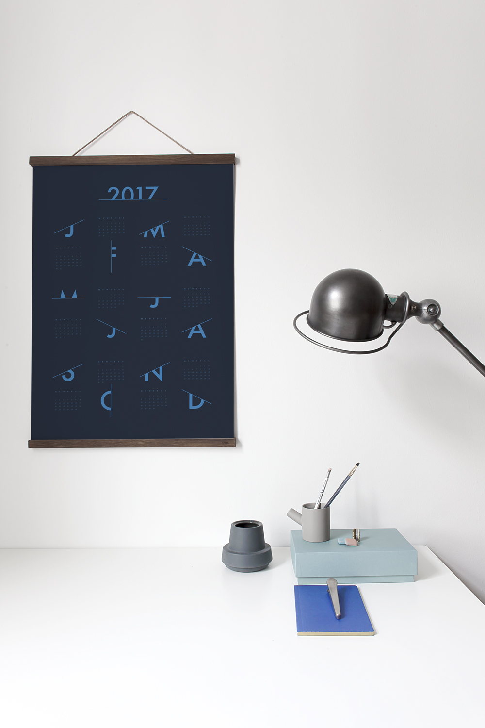 Scratched Calendar 2017 in midnight blue by Coco Lapine
