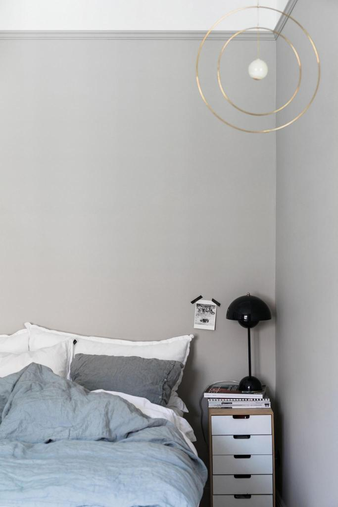 Home in blue, grey and green - via Coco Lapine Design blog