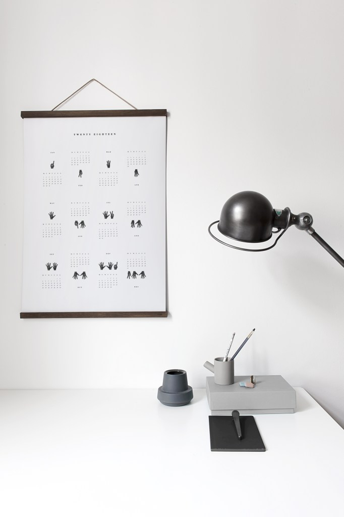 Make it count Calendar 2018 - via Coco Lapine Design blog