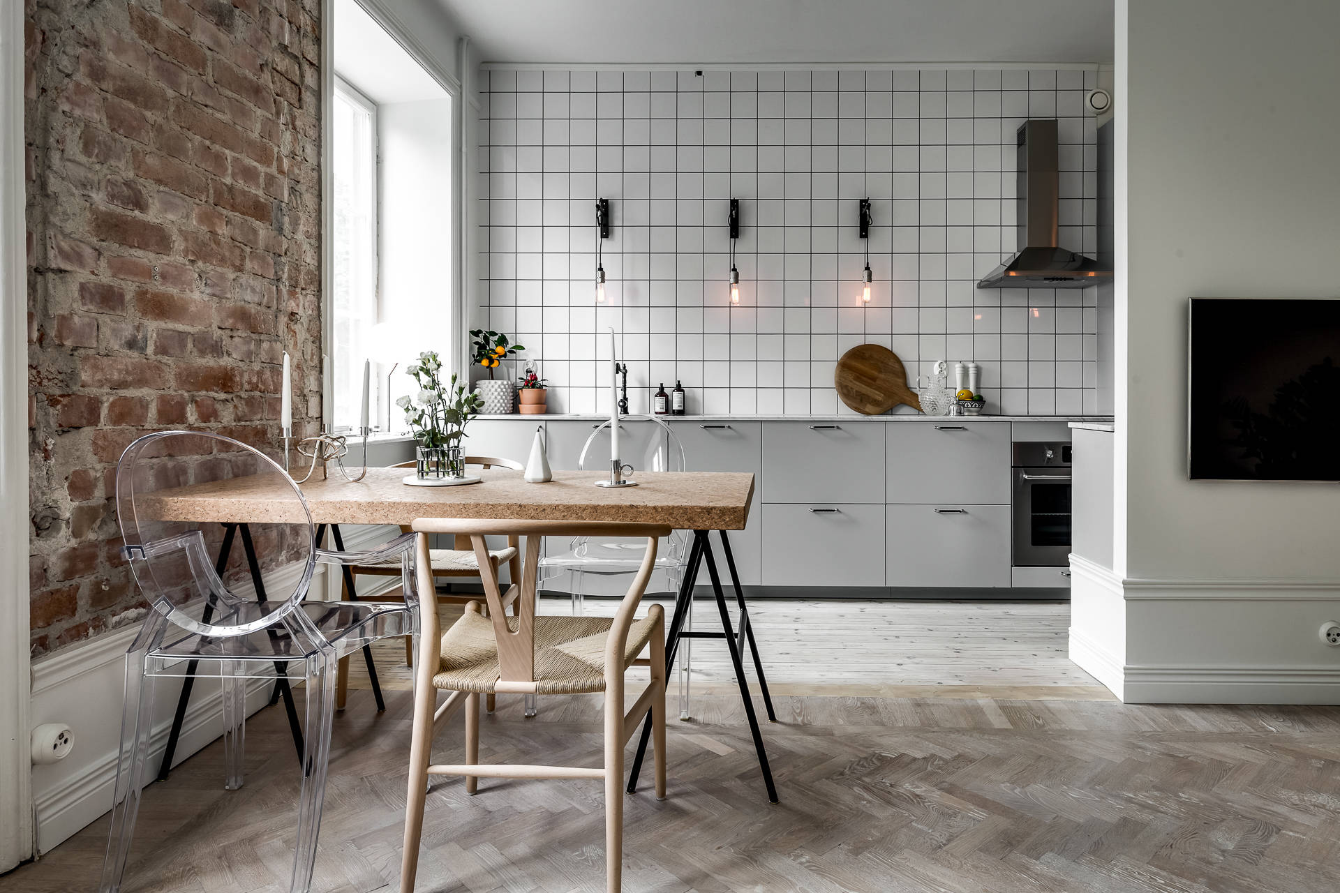 ... Minimal Kitchen With An Industrial Touch   Via Coco Lapine Design Blog  ...