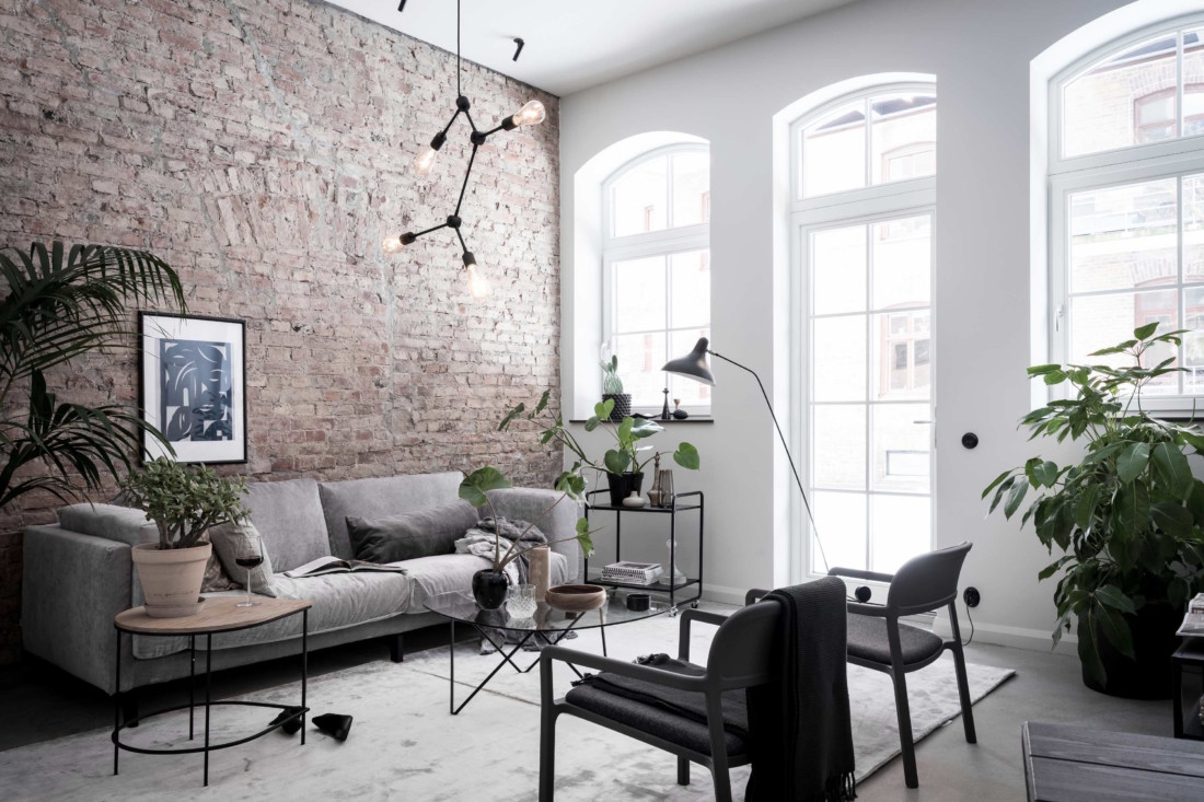 Exclusive home with an exposed brick wall - COCO LAPINE DESIGNCOCO ...
