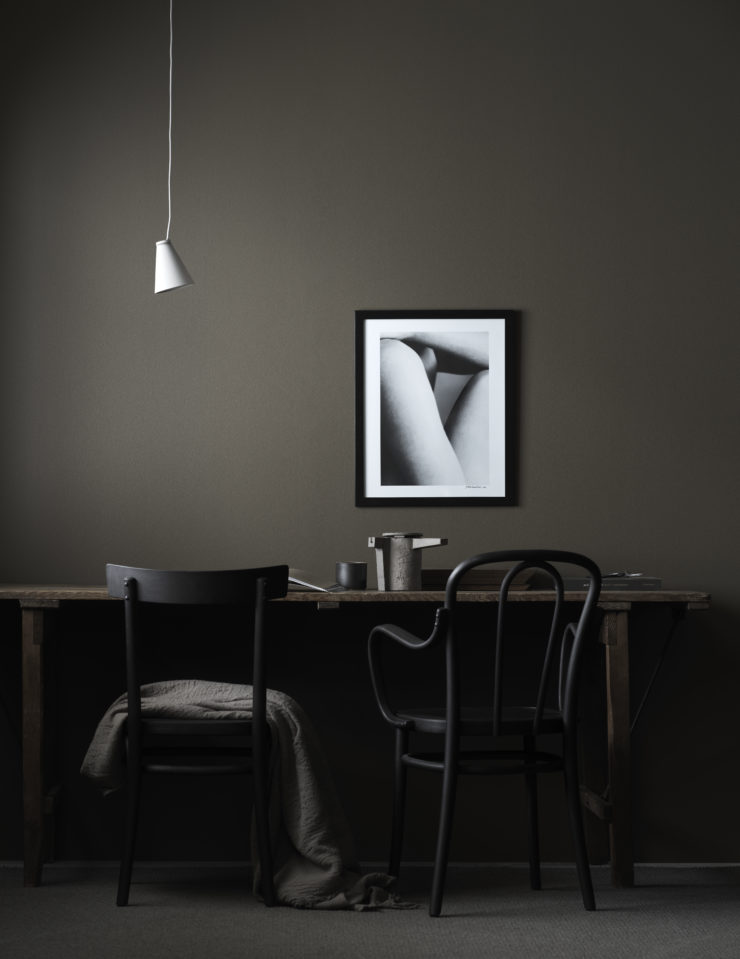 Beautiful dark color scheme - via Coco Lapine Design blog
