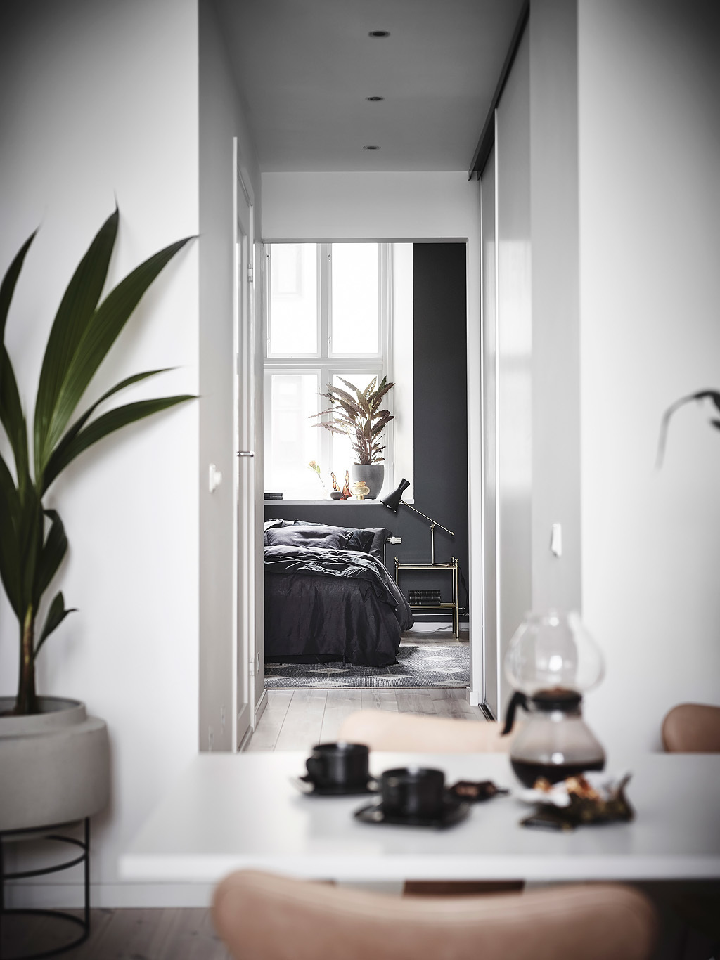 Exposed brick and black bedroom walls - COCO LAPINE DESIGNCOCO ...