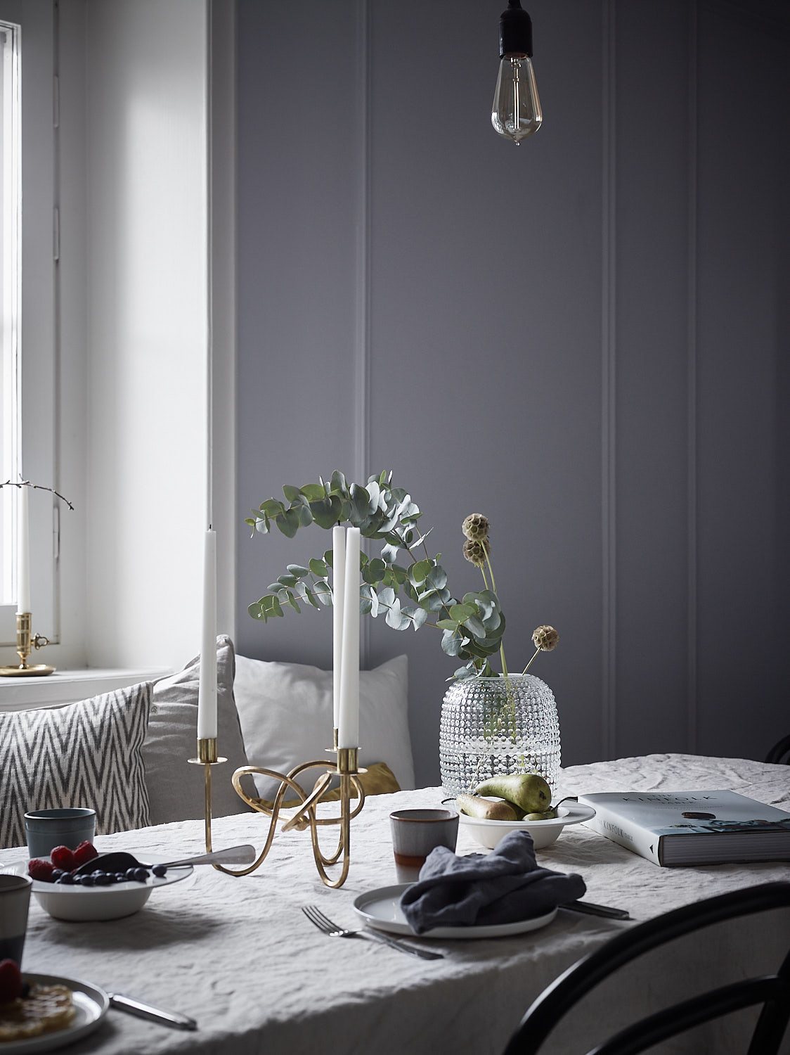 elegant home. Elegant Home In Blue-grey - Via Coco Lapine Design Blog M