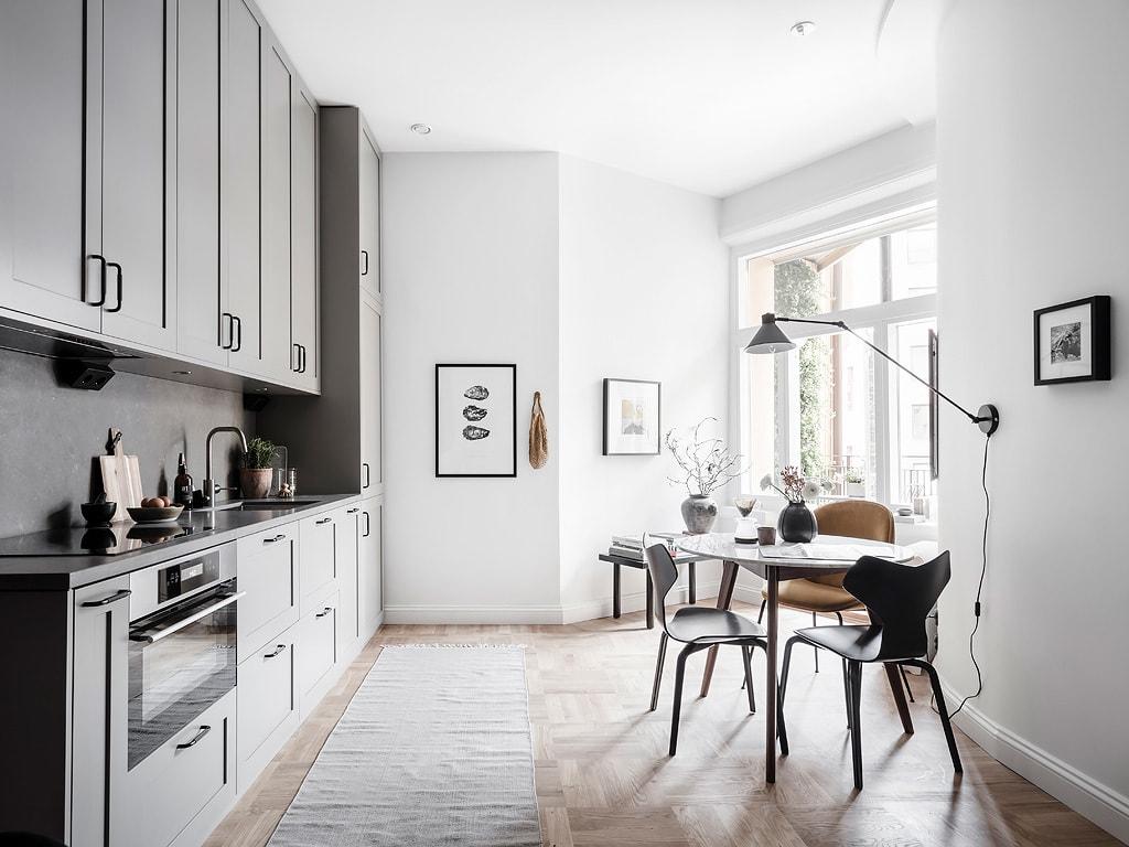 Smart studio with a glass partition - via Coco Lapine Design blog