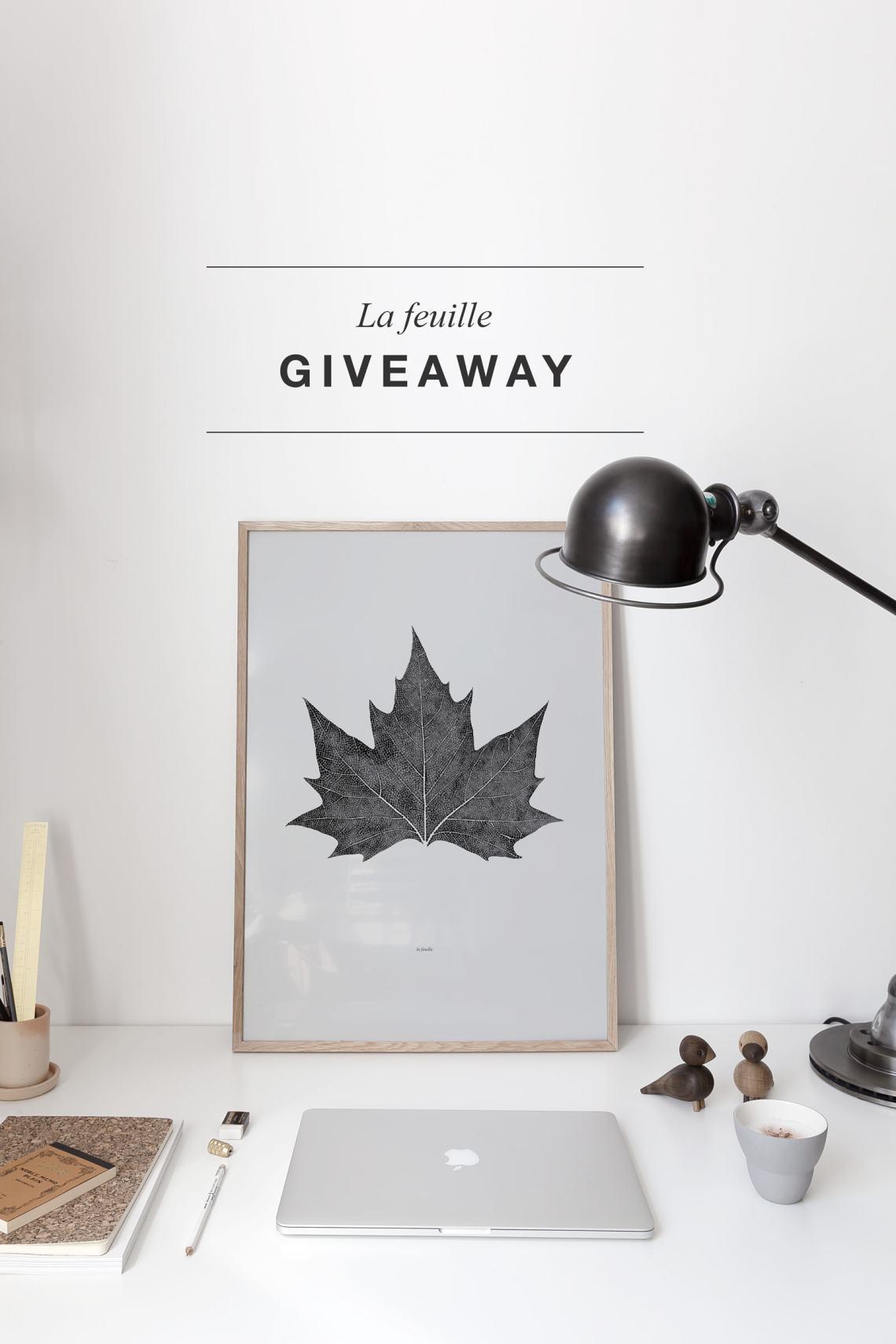 La Feuille giveaway on Instagram - via Coco Lapine Design blog