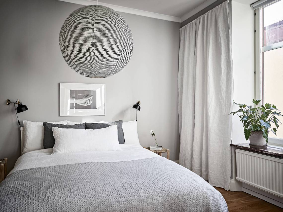 Light flooded home in grey - via Coco Lapine Design blog