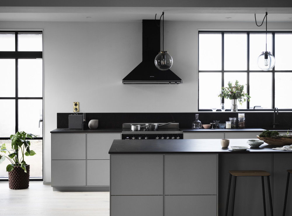 Minimal and industrial kitchen