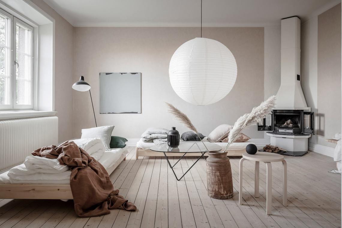 Minimal beige interior