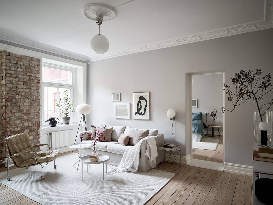 Beautiful grey home with a soft pink touch