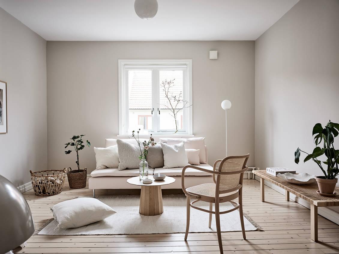 Beige studio home