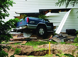Whether intentional or accidental, a vehicle can very effectively smash through most unprotected building exteriors.