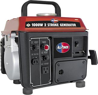 This is a wonderful portable generator, costing only $135 and providing both 12V and 110-120V power.