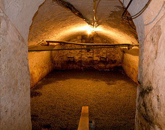 This lovely large root cellar dates back to the mid 1800s and is underneath a farmhouse in Lancaster, PA.