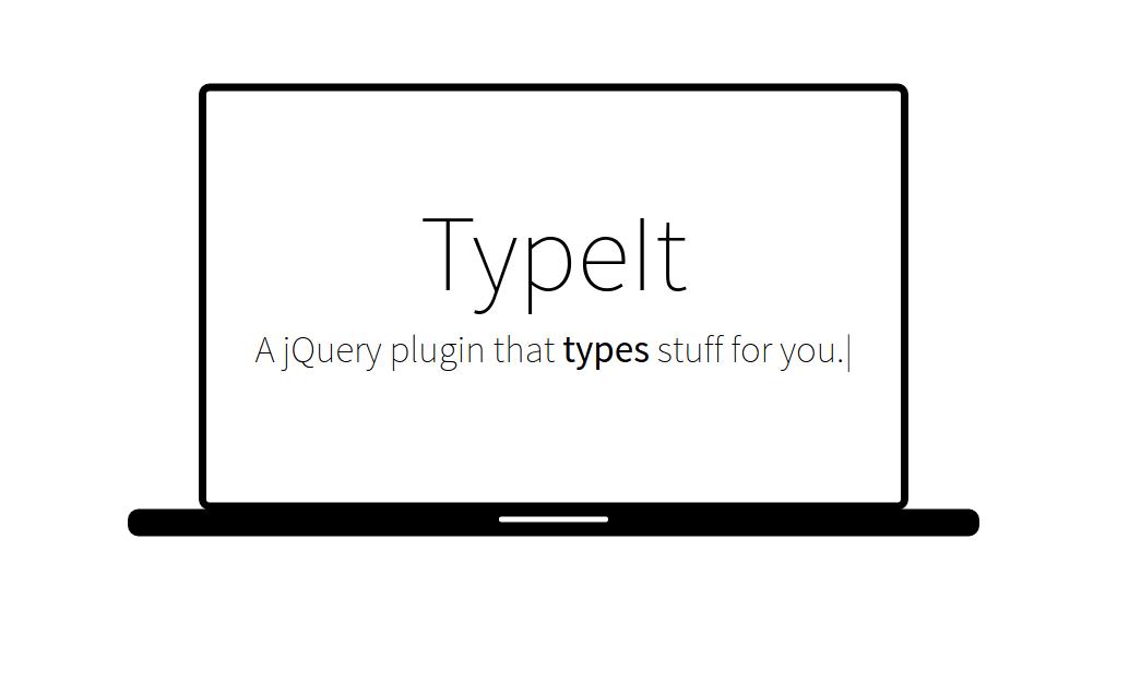 Efecto de escritura usando jQuery y la librería TypeIt