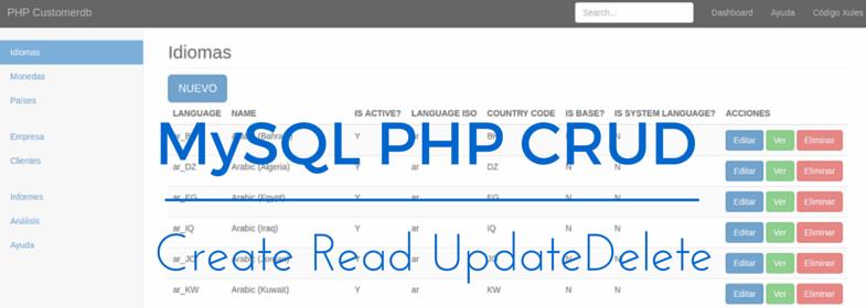 MySQL PHP CRUD