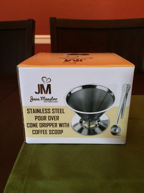 Review: Java Maestro Stainless Steel Pour Over Cone Dripper
