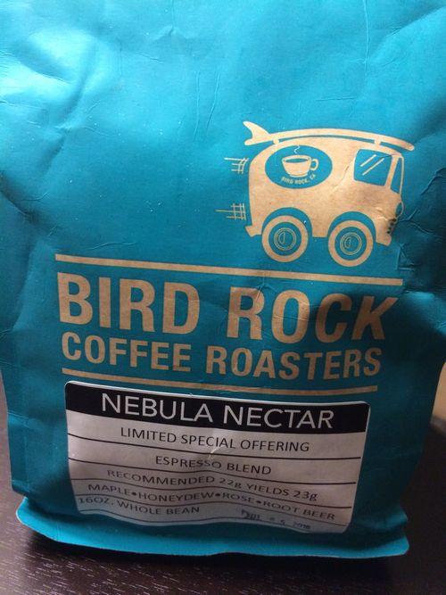 Review: Bird Rock Coffee Roasters Nebula Nectar Espresso Blend (San Diego, California)