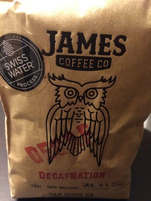 Review: James Coffee Company DecafNation (San Diego, California)