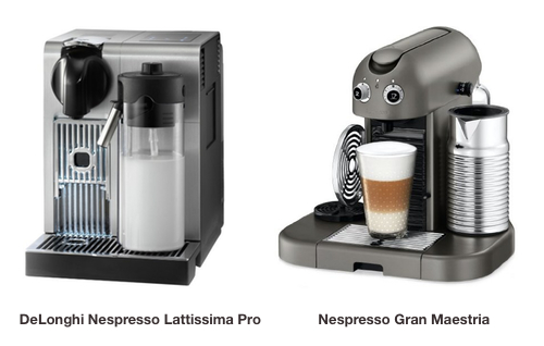 nespresso lattissima pro vs gran maestria what is the. Black Bedroom Furniture Sets. Home Design Ideas