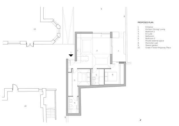 Hidden House_ Proposed Ground Floor Plan