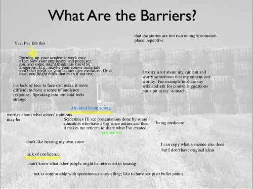 Barriers to Sharing