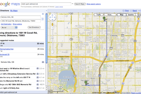correct google maps driving directions