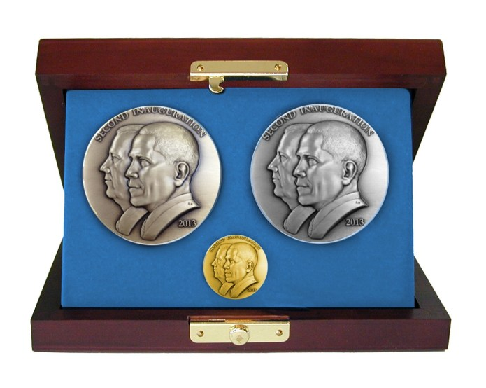 Barack Obama Second Term Inaugural Medal Set (L to R: bonze, gold, silver)