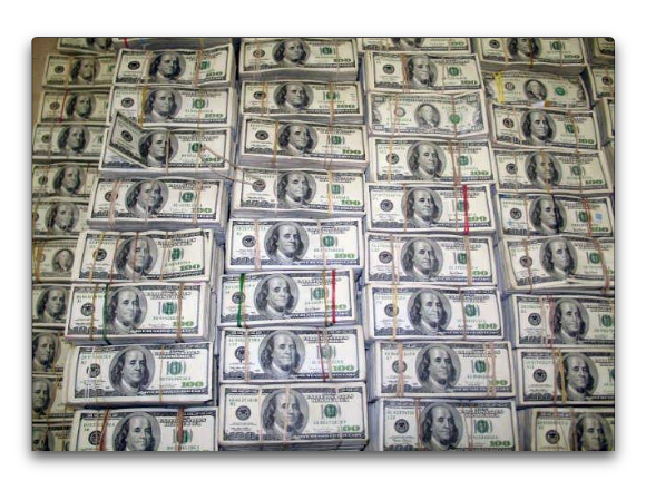 $207 Million in $100 notes seized as part of a drug raid in 2007