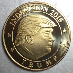 Long-Stanton Indecision 2016 Token - Donald Trump side