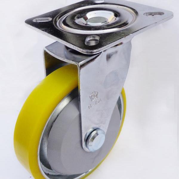Càng G xoay, không thắng, bánh xe PU lõi thép G150-01U của công ty cổ phần Làng Rùa