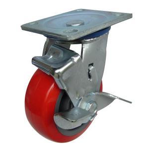 Càng K xoay, có thắng, bánh xe TPU K150-02T