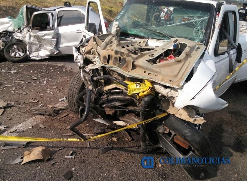 Fuerte accidente en Cuauhtémoc deja tres muertos y varios lesionados