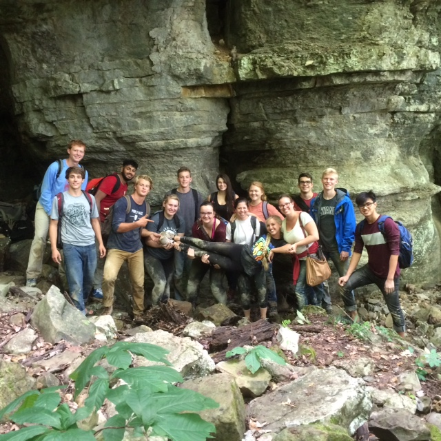 The FYP group at Solomon's Temple Cave