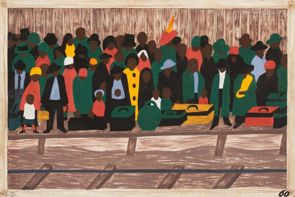 "Jacob Lawrence's ""And the migrants kept coming"" (1940-41)"