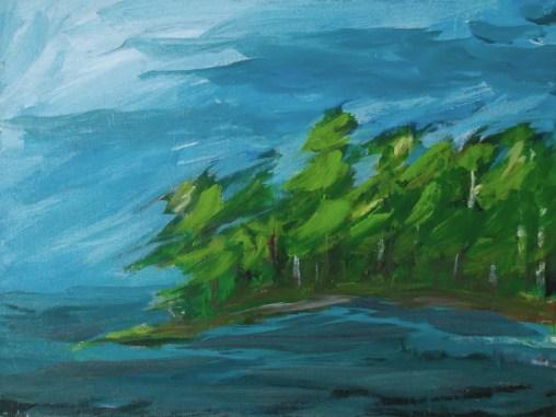 whiteshell landscape painting buying canadian art janet bright