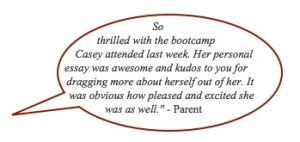 CommonApp BootCamp Testimonial