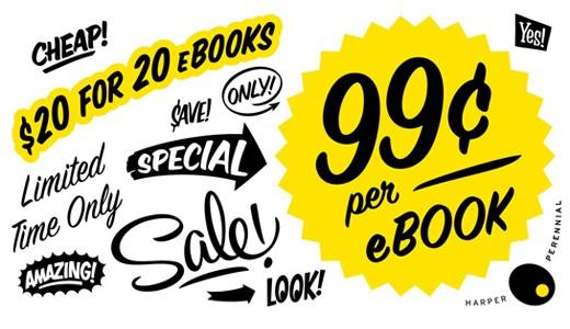 Imagem real de uma promoção da HarperCollins (é sério)
