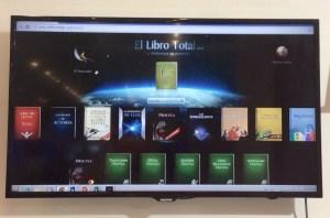 (Foto 10: Plataforma de leitura online da Fundación El Libro Total)
